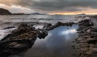 November Sunset  over The Slate Isles