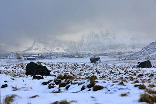 SE.-wards view from Eggum Natur Reserve to Egggum fishing village-Vestvagoya-Lofoten-Nordland-Norway.0551