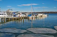 Icy Water (Ellsasha) Tags: alexandria virginia waterfront water ice boats jetty pier