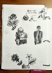 Prise de notes pendant une réunion passionnante... (cecile_halbert) Tags: doodling doodle scribble gribouillage crobard croquis esquisse sketching sketchinglife sketcher quicksketch sketch sketchbook artbook artjournal artdiary journaling journaladdict journalling usk urbansketch urbain urbansketching urbansketchers drawink drawer drawingportrait drawing portrait personnages character draw ink encre