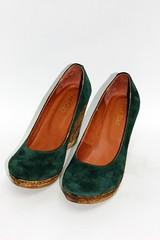 Зеленые замшевые туфли на танкетке (azzafazzara) Tags: туфли обувь зеленый