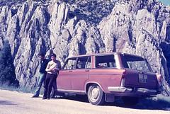 Los Organos de Montoro en Teruel, en 1970 aproximadamente (joseange) Tags: diapositiva año1971 seat1500 voigtlander analógico vintage villarluengo organosdemontoro teruel