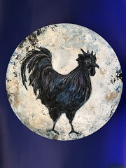 gallonegro,60cm (luis lara cabrera) Tags: arte art painting pintura gallo zoo mixed media canvas mdf lara 2017