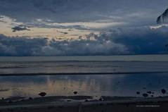 Shelf cloud at dusk reflected in tidal pools Lover's Walk Sandgate IMGP3045d (john.robert_mcpherson) Tags: bramble bay storm shelf cloud