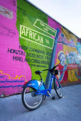 Harlem, New York (Quench Your Eyes) Tags: citibike citibikes ny bicycle harlem manhattan newyork newyorkcity newyorkstate nyc travel streetart wallart urbanart art mural artist outdoor yuriandmalcolm collective yuriandmalcolmmural uptownmanhattan centralharlem