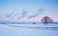 Snowland (J C Mills Photography) Tags: canon 5ds rpeak district derbyshire landscape fields barn sunset sky blue pink