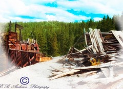 Freeland Colorado...Now only fragments from the past. (E.B Anderson Photo-Email: billybob1959a@gmail.com) Tags: ghosttown mountains trees mining colorado abandoned sad thepast history gold town clouds ruins old