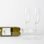 Champagne with empty glasses thumbnail