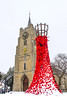Flowing Poppies (Kev Gregory (General)) Tags: snow set church parish st peter paul chatteris town war memorial during our recent snowfall winter white christmas xmas scenic beautiful poppies poppy fen fens fenland market cambs cambridgeshire east anglia england uk kev gregory canon 7d
