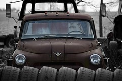 tired (David Sebben) Tags: dodge truck abandoned iowa tired tires