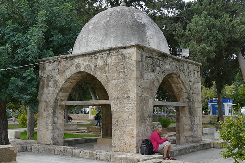 Baldoken Turbe (free standing tomb with a sheltering gazebo, Baldoken Ottoman Graveyard, Kyrenia, North Cyprus (2)
