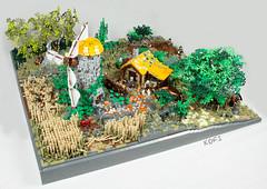 "medieval windmill (""kofi"") Tags: mindstorms lego windmill medieval mittelalter windmühle landwirtschaft farmer foitsop legomedievalwindmill medievalwindmillmoc"
