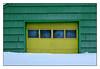 Downtown Garage (Robert Drozda) Tags: fairbanks alaska downtown garage winter snow yellow green digital drozda