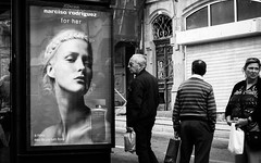 Narciso for her (Vitor Pina) Tags: street streetphotography scenes streets shadows photography people pretoebranco portraits contrast candid urban urbano rua moments momentos monochrome man men mulher