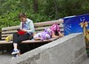 Sleepy (Peder Sterll) Tags: china beijing nikon d7100 nikkor 24mm f14 girl child sleepy asleep bench zoo