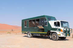 Tourist bus/track in Sossusvlei, Namibia (George Pachantouris) Tags: namibia africa southern travel holiday desert namib sossusvlei deadvlei hot sand dune dunes