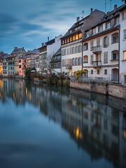 La Petite France (v-_-v) Tags: strasbourg strassburg strasburg france alsace river canal house architecture europe bluehour cityscape urbanlandscape water longexposure