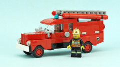 Old Fire Truck (de-marco) Tags: lego town fire city truck engine vehicle car 5stud