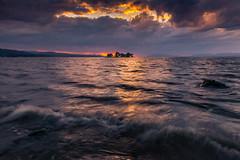 sunset 2141 (junjiaoyama) Tags: japan sunset sky light cloud weather landscape purple orange contrast color bright lake island water nature wave fall autumn