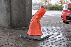 Hogwarts Construction Limited, sorting hat. (Crusty Streets) Tags: hogwarts construction limited sorting hat harry potter cone godric gryffindor helga hufflepuff rowena ravenclaw salazar slytherin
