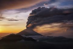 Eruption of Mount Agung [Explored] (eggysayoga) Tags: pinggan village kintamani bali indonesia sunrise eruption erupsi gunung agung mount mountain cloud asap batur fujifilm fuji xt1 fujinon 35mm 35 f14 lens fog
