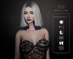 *Queen oF Ink - Dream Tattoo *GIFT* @TCF (MonaSax95 Resident) Tags: new news tattoo ink inked blackwhite black exclusive queenofink sl secondlife avatar virtual photo pic shot fashion style moda cool glamour gift free