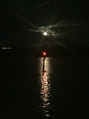 Full moon on the river (Simon_sees) Tags: navigation channelmarker silhouette fullmoon moonlight moon river water night