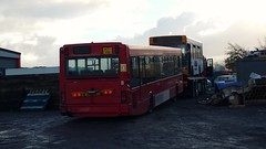 W371VHB and T145DAX going for scrap! (david_umpleby) Tags: w371vhb w371 vhb t154 dax t145dax scrap tow truck catch 22 bus blackpool