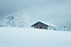 Cabin. (Matthieu Robinet) Tags: 2017 alpes archamps boss bts geneve hiver prepu suisse white snow fresh air landscape escape explore discover mountain alps winter softness lostplaces paradise heaven purity pure nature alone solitude solo red touch