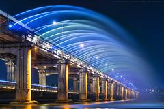 Banpo Bridge (mikemikecat) Tags: banpo bridge 盤浦大橋 반포대교 seoul south korea nightview nightscape splash water waterfall sony a7r fe55mm