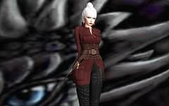 Amazing leather outfit by David Heather at Uber! (Rhaenys Targaryen) Tags: uber davidheather ncore powderpack amarabeauty veechi alme catwa truth bliensenmaitai wlrp we3roleplay anatomy maitreya ksswords