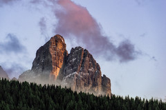 Dolomites (martin.matte) Tags: peak mountains dolomiten alps italy landscape mountainscape nature evening sunset sky berg clouds trees outdoor
