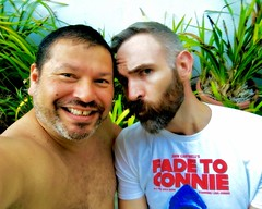IMG_6497 (danimaniacs) Tags: shirtless man guy beard scruff smile