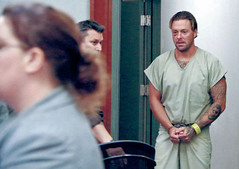 Kaki (cuffed_inmate) Tags: inmate orange prison prisoner sentenced punished cuffed iron uniform