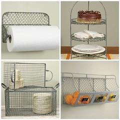 Galvanized Wire Kitchen Storage (Heath & the B.L.T. boys) Tags: galvanized metal wire basket twine fruit storage chalkboard label
