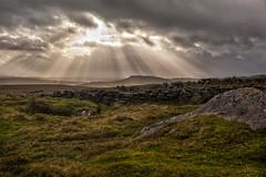 Dartmoor 04 (L I C H T B I L D E R) Tags: dartmoor england devon sunset sonnenuntergang wolken clouds light sonne sun rays strahlen moor dämmerung twilight dusk dawn swamp bog sheepstor landscape hiking wandern hill field landschaft gras himmel feld berg
