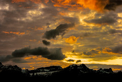 Red sky at night ........ (jmiller35) Tags: firesky rockymountains moods lowlight nightlight nighttime mountainrange scenic digital canon redsky sunset mountains rockies canada