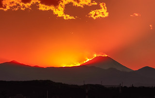Mt. Fuji of fake fire