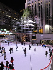 2017 Christmas Tree Rockefeller Center NYC 3618 (Brechtbug) Tags: 2017 christmas tree rockefeller center before lights 11112017 nyc 30 rock new york city standing up above ice rink with snow shoveling workers skating holiday decoration ornaments night lites light oversize load ornament prometheus gold mythological statue sculpture fountain fountains scaffolding scaffold pre thanksgiving