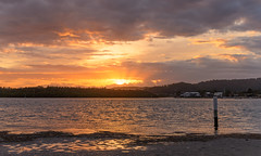 Overcast Sunrise Waterscape (Merrillie) Tags: daybreak woywoy color overcasst cloudy water coast dawn beauty landscape weather newsouthwales clouds bay nsw brisbanewater light scenery beautiful scene nature scenic coastal sky waterscape view centralcoast sunrise australia