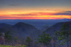 Blue Ridge Parkway Buena Vista sunset (cmfgu) Tags: buenavistaoverlook view blueridgeparkway vesuvius va rockbridgecounty virginia nationalparkway blueridgemountains appalachianmountains sunset twilight dusk colorful clouds mountains hdr highdynamicrange craigfildesfineartamericacom fineartamericacom craigfildespixelscom craigfildes artist artistic photographer photograph photo picture prints art wall canvasprint framedprint acrylicprint metalprint woodprint greetingcard throwpillow duvetcover totebag showercurtain phonecase mug yogamat sale sell buy purchase gift craigfildesphotography