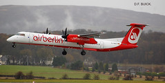 D-ABQT DHC-8 DASH EIGHT (douglasbuick) Tags: aircraft dhc8 dash eight dabqt prop plane landing airplane air berlin egpf glasgow airport aviation scotland flickr airliner airlines airways nikon d40