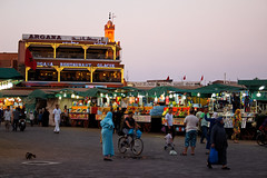 Jemaa el-fnaa (T is for traveler) Tags: travel traveler traveling tisfortraveler digitalnomad backpacker photography exploration morocco marrakesh africa jemaaelfnaa square market hotel people arab mosque food culture ساحةجامعالفنا crazy canon 700d 1855mm sky night light