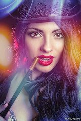 Scarlett Glam... (Ring of Fire Hot Sauce 1) Tags: cosplay zatanna scarlettsparrowcosplay sandiegocomiccon sdcc portrait glamour