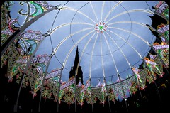 Durham Lumiere. 2017. (CWhatPhotos) Tags: cwhatphotos durham city north east england uk lumiere light show 2017 durhamlumiere lit up day time illumination olympus em5 ii lens pictures picture photographs photograph pic pics foto fotos image images with that have which contain dome arches market square domeandarches exhibit art artistic view