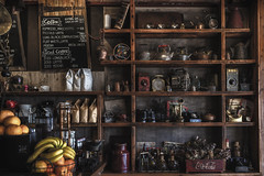 Cafe Once Upon a Time (satochappy) Tags: cafe display cafeonceuponatime antique retro old stilllife