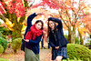 Beautiful Mother and Daughter at Gotokuji Temple (Dakiny) Tags: 2017 winter december japan tokyo setagayaward gotokuji city street temple gotokujitemple autumnleaves autumncolors maple red people portrait female woman lady girl family mother daughter bokeh d750 afsnikkor50mmf18g nikonafsnikkor50mmf18g