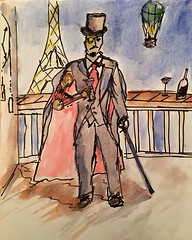 Steampunk (Mark Bonica) Tags: justanidea whatneverwas france playing sketch watercolor steampunk