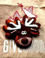 Starbuck's Gingerbread Reindeer (IrishMomLuvs2Bake) Tags: reindeercookie reindeer starbucks gingerbread christmas holiday treat cookie sweets dessert