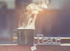tea and peace (auntneecey) Tags: teaandpeace steam peace tea youareequallyasbeautifulastheuniverse